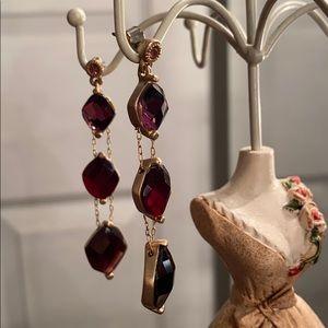 Liz Claiborne Grapevine Wine Dangle Earrings